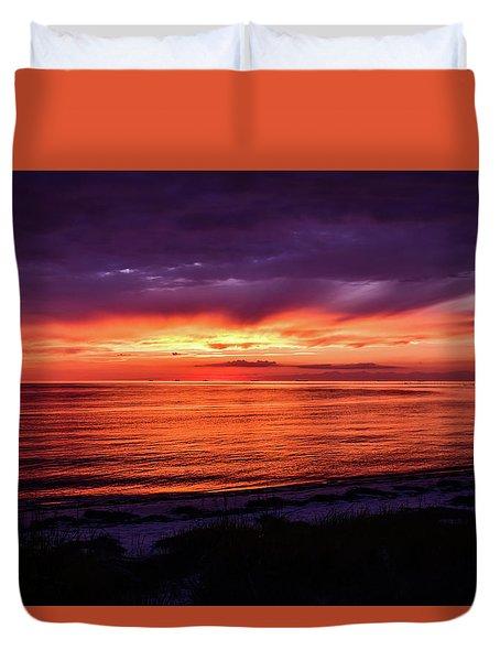 Chesapeake Bay Sunset Duvet Cover