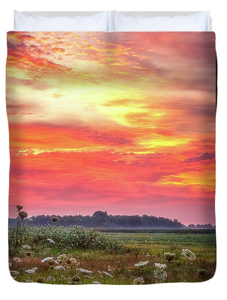 Chesapeake Sunrise I Duvet Cover by David Cote