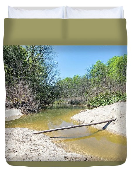 Duvet Cover featuring the photograph Chesapeake Tributary by Charles Kraus