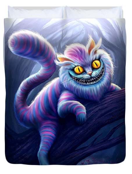 Cheshire Cat Duvet Cover by Anthony Christou