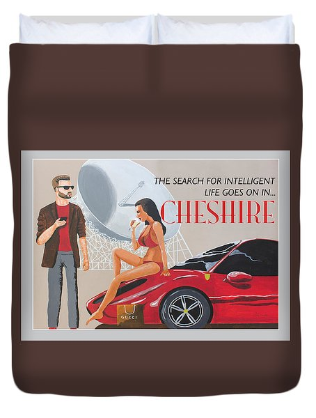 Cheshire Poster Duvet Cover by Eric Jackson
