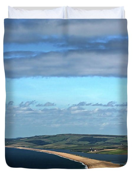 Chesil Beach Duvet Cover by Stephen Melia