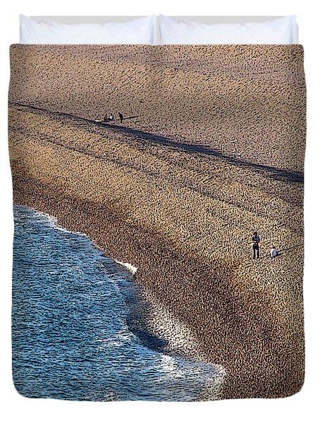 Chesil Beach Duvet Cover