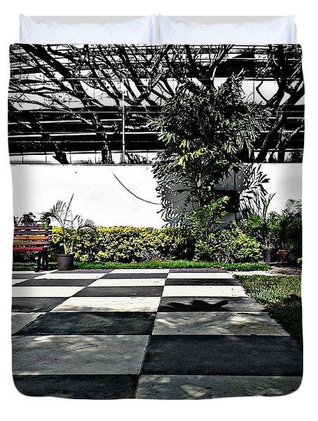 Chess Floor Duvet Cover