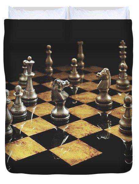 Chess The Art Game Duvet Cover