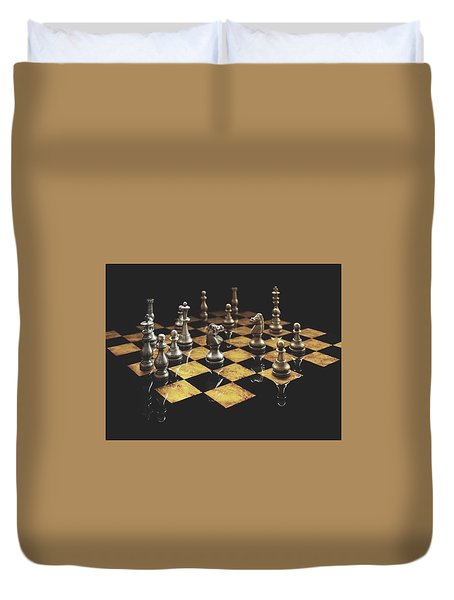 Chess The Art Game Duvet Cover