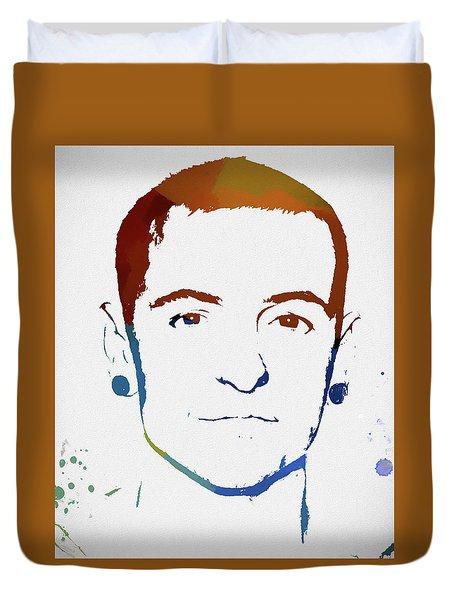 Chester Bennington Color Tribute Duvet Cover