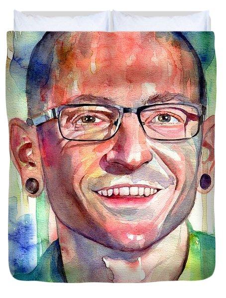 Chester Bennington Portrait Duvet Cover