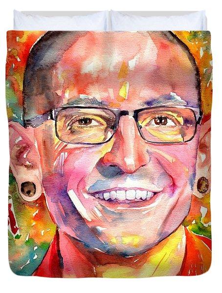 Chester Bennington Watercolor Duvet Cover