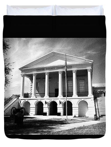 Chester South Carolina Court House Day 2 Grain Duvet Cover