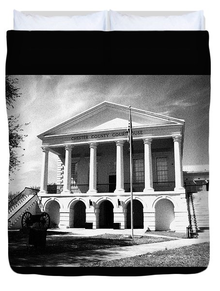 Duvet Cover featuring the photograph Chester South Carolina Court House Day 2 Grain by Joseph C Hinson Photography
