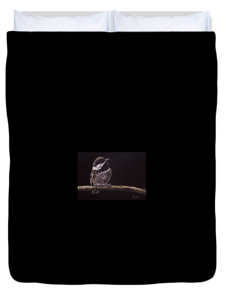 Chestnut Backed Chickadee Duvet Cover