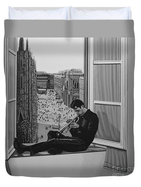 Chet Baker Duvet Cover by Paul Meijering