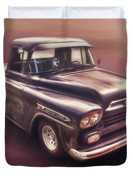 Chevrolet Apache Pickup Duvet Cover
