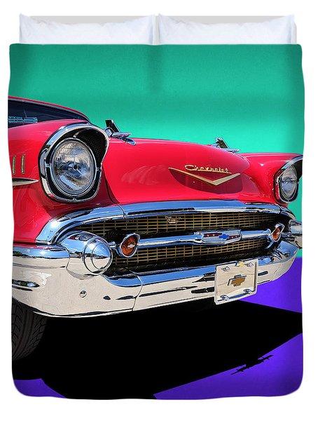 Chevrolet Bel Air Color Pop Duvet Cover
