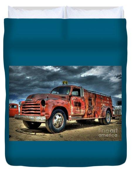 1948 Chevrolet Fire Truck Duvet Cover