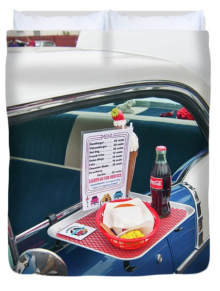 Chevy 2046 Duvet Cover by Guy Whiteley