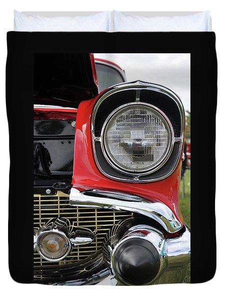 Duvet Cover featuring the photograph Chevy Bel Air by Glenn Gordon