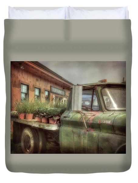Duvet Cover featuring the photograph Chevy C 30 Pickup Truck - Colby Farm by Joann Vitali