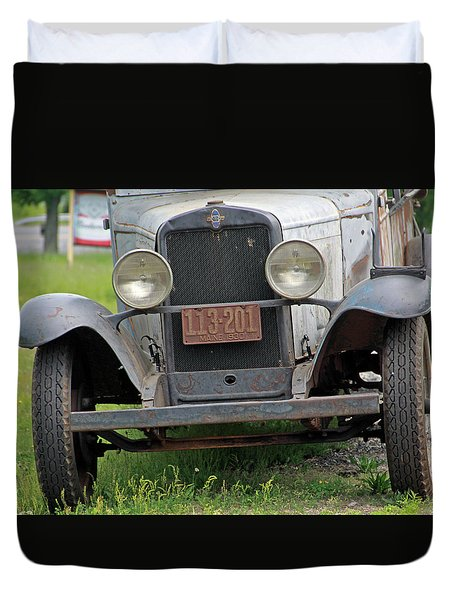 Chevy Huckster 1930 Grill Duvet Cover