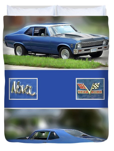 Chevy Nova Vertical  Duvet Cover