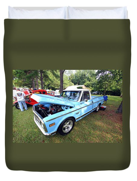 Duvet Cover featuring the photograph Chevy Truck by Joseph C Hinson Photography