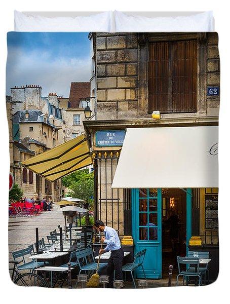 Chez Julien Duvet Cover by Inge Johnsson