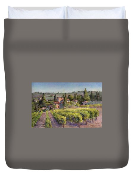Chianti Vineyard Duvet Cover