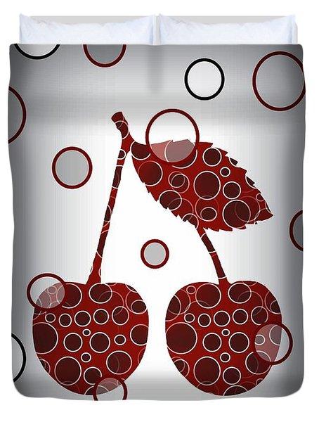 Chic Cherries Duvet Cover