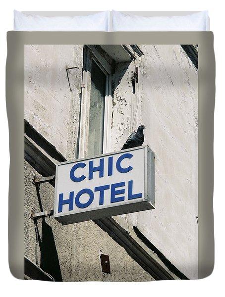 Chic Hotel Duvet Cover