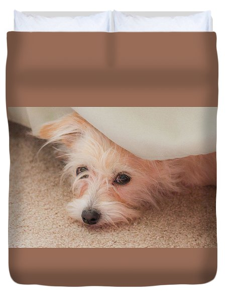 Chica In Hiding Duvet Cover by E Faithe Lester