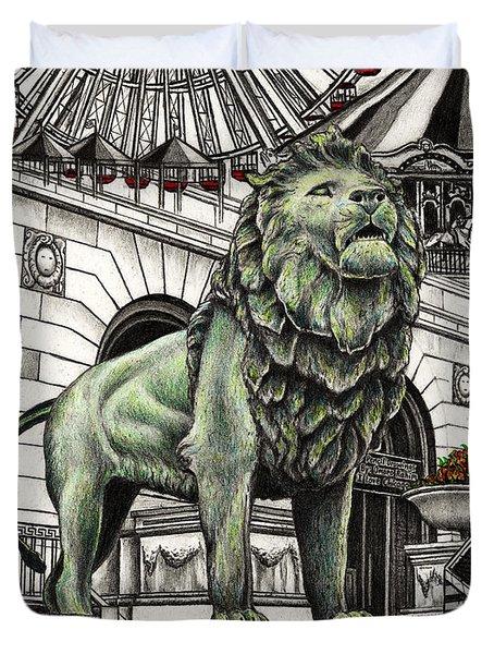 Chicago Art Institute Lion Duvet Cover