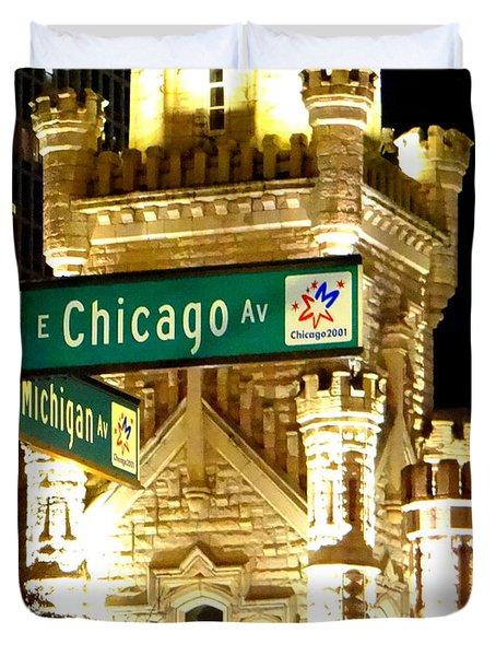 Chicago Avenue  Duvet Cover by Elizabeth Coats