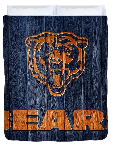 Chicago Bears Barn Door Duvet Cover by Dan Sproul