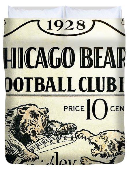 Chicago Bears Football Club Program Cover 1928 Duvet Cover