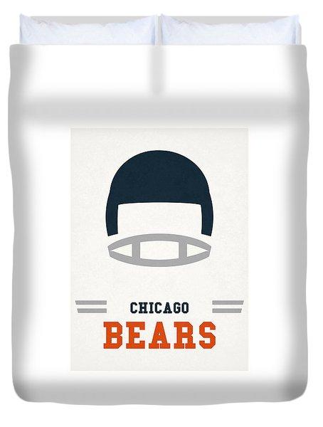 Chicago Bears Vintage Art Duvet Cover by Joe Hamilton