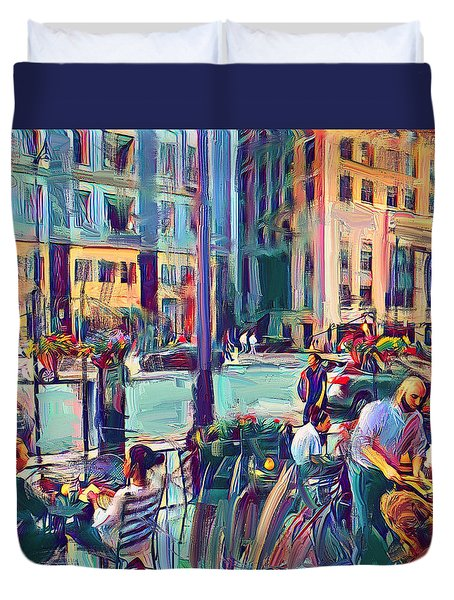 Chicago Cafe Duvet Cover