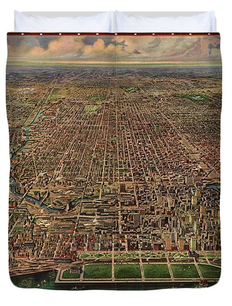 Chicago, Central Business Section Duvet Cover
