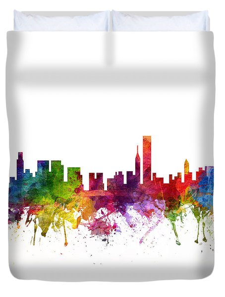Chicago Cityscape 06 Duvet Cover by Aged Pixel