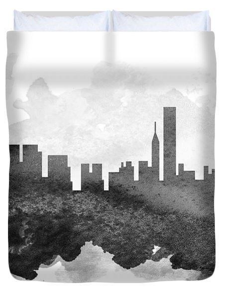 Chicago Cityscape 11 Duvet Cover by Aged Pixel