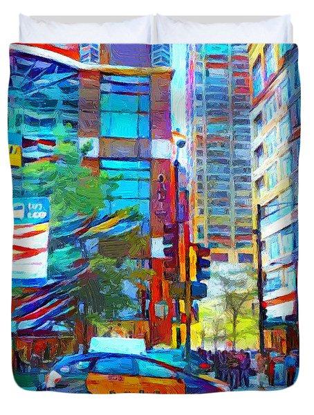 Chicago Colors 1 Duvet Cover
