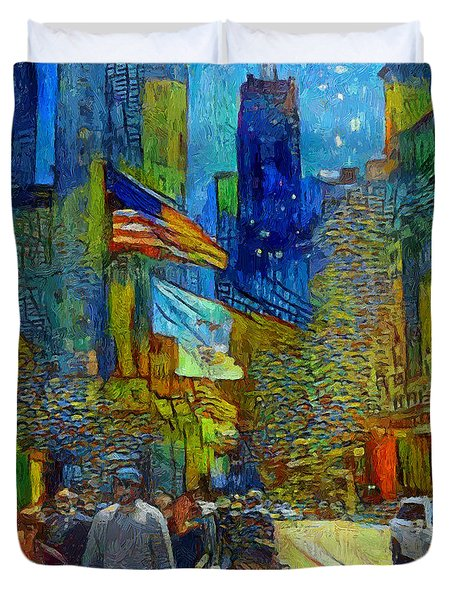 Chicago Colors 2 Duvet Cover