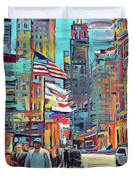 Chicago Colors 5 Duvet Cover