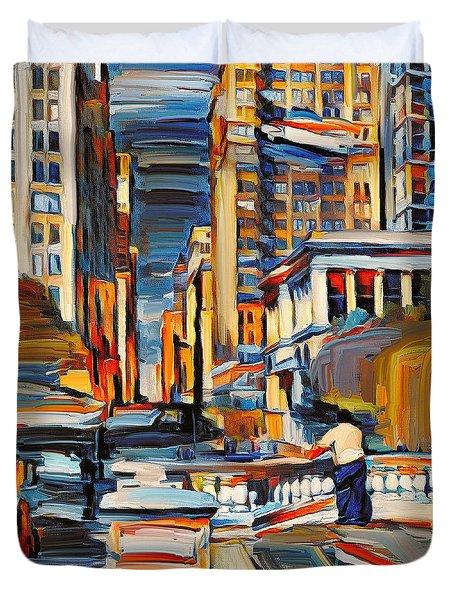 Chicago Colors 7 Duvet Cover