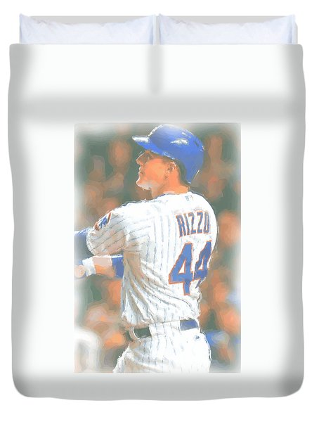 Chicago Cubs Anthony Rizzo 2 Duvet Cover