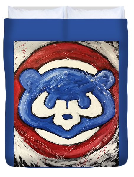 Chicago Cubs Duvet Cover by Elliott From