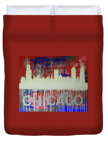 Chicago Drip Duvet Cover