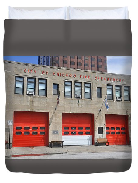 Chicago Fire Duvet Cover
