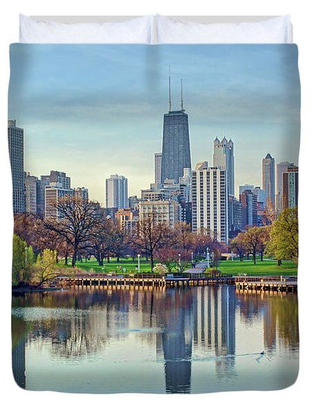 Chicago From Lincoln Park Duvet Cover