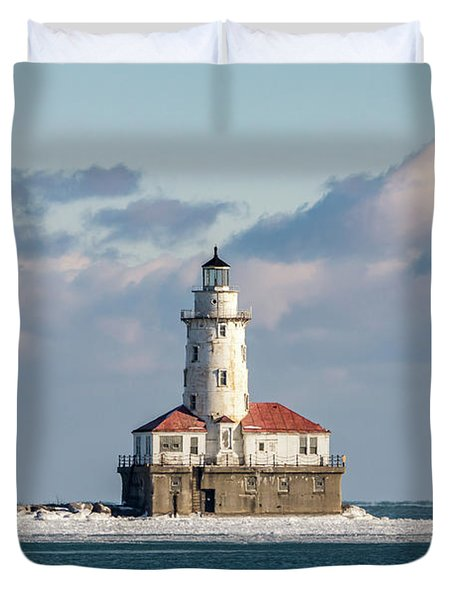 Chicago Harbor Lighthouse Duvet Cover